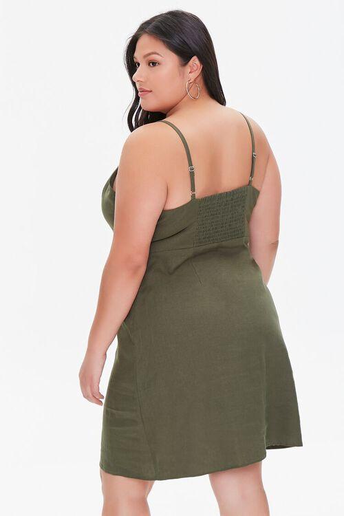 Plus Size Linen-Blend Mini Dress, image 3