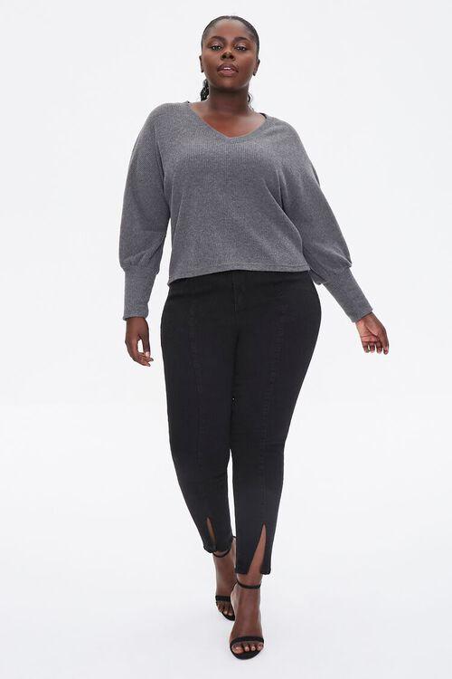 Plus Size V-Neck Sweater, image 4