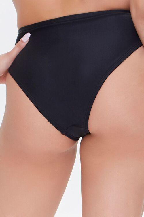 High-Waist O-Ring Bikini Bottoms, image 4