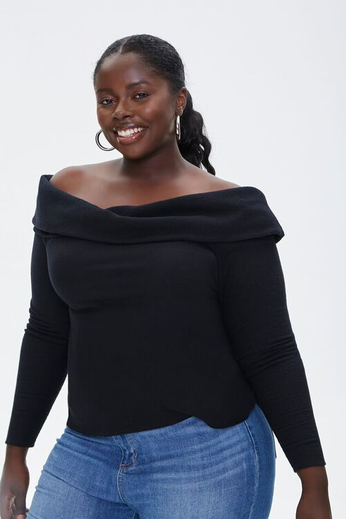 Plus Size Off-the-Shoulder Top, image 1