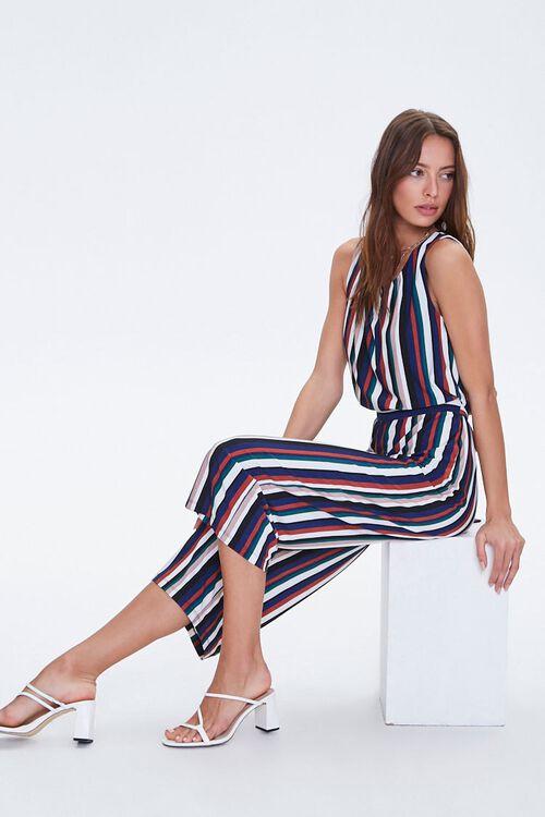 Striped Self-Tie Jumpsuit, image 1