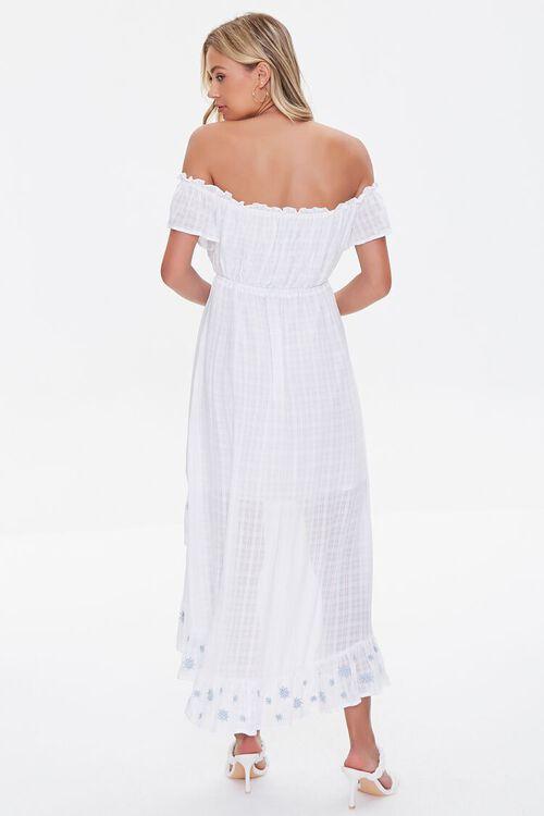 Embroidered Off-the-Shoulder Dress, image 3