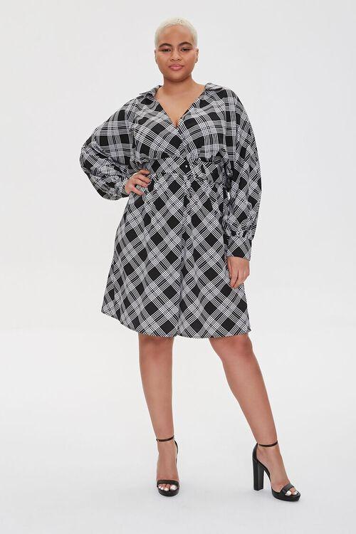 Plus Size Plaid Wrap Dress, image 4