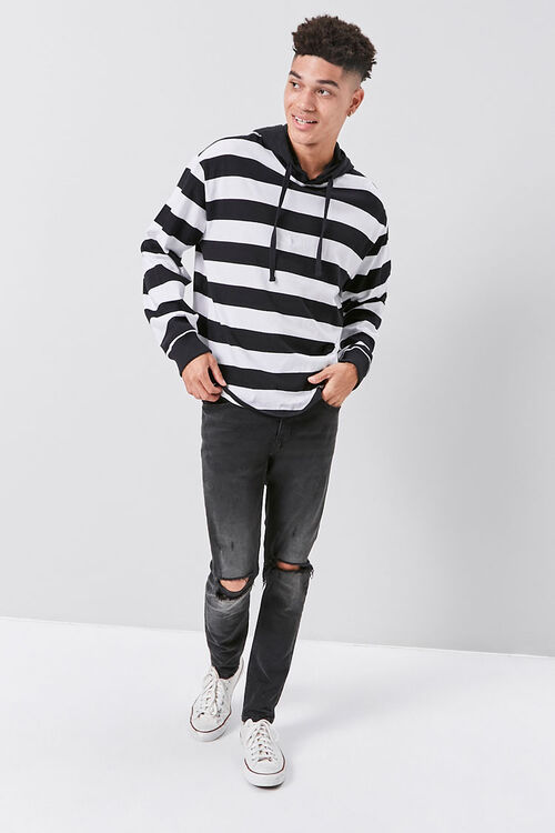Bold Striped Hooded Pullover, image 4