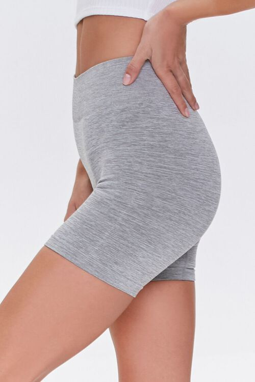 Seamless Heathered Biker Shorts, image 3
