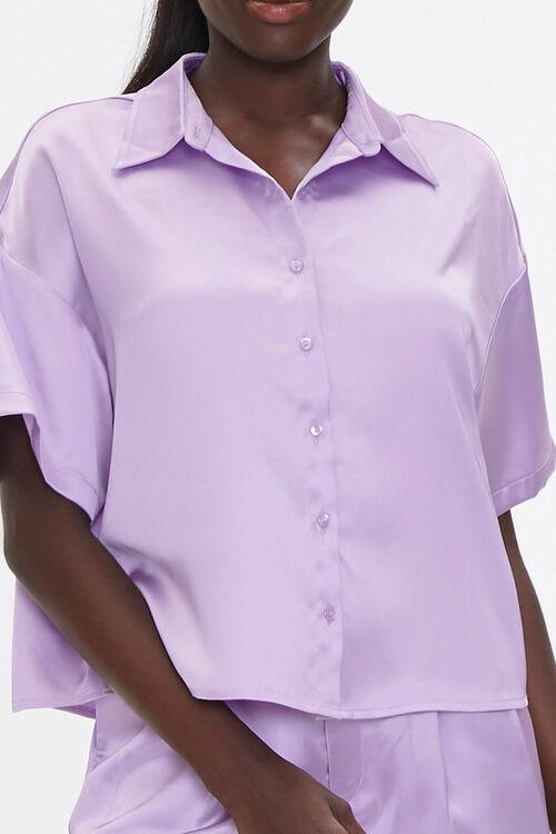 Satin Shirt & Shorts Set, image 5