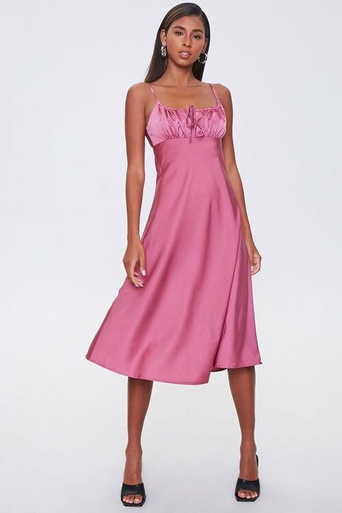 Ruched Satin Dress, image 4