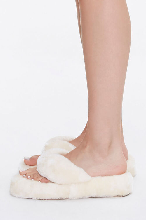 Plush Thong Slippers, image 2