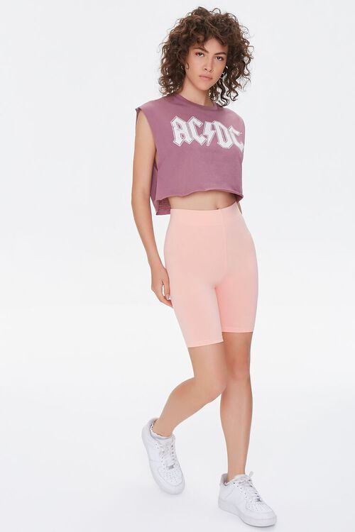 MAUVE/MULTI AC/DC Graphic Cropped Muscle Tee, image 4
