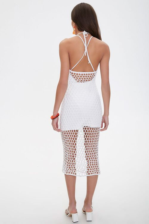 Open-Crochet Halter Dress, image 3