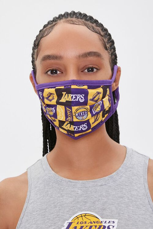Lakers Print Face Mask, image 1