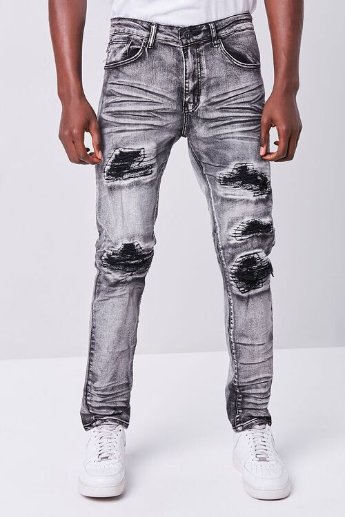 WASHED BLACK Waimea Distressed Weatherbeaten Jeans, image 2