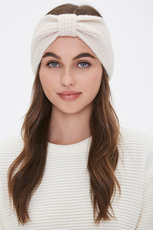Brushed Knit Gathered Headwrap, image 1