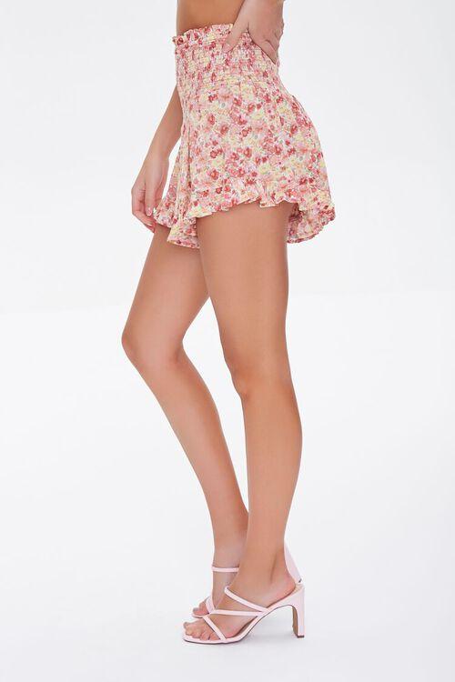 Floral Smocked Mini Skirt, image 3
