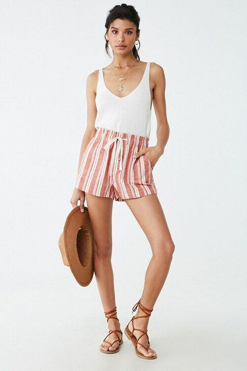 Linen-Blend Striped Shorts, image 5