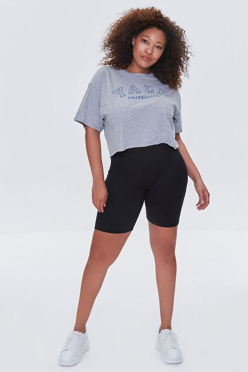 Plus Size Cropped Yale Graphic Tee, image 4