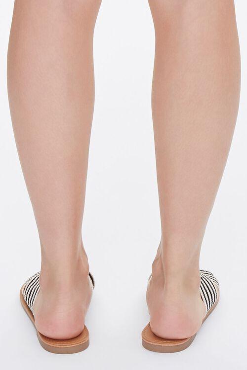Striped Crisscross Vamp Sandals, image 3