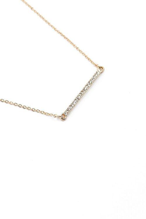 Rhinestone Bar Pendant Necklace, image 3