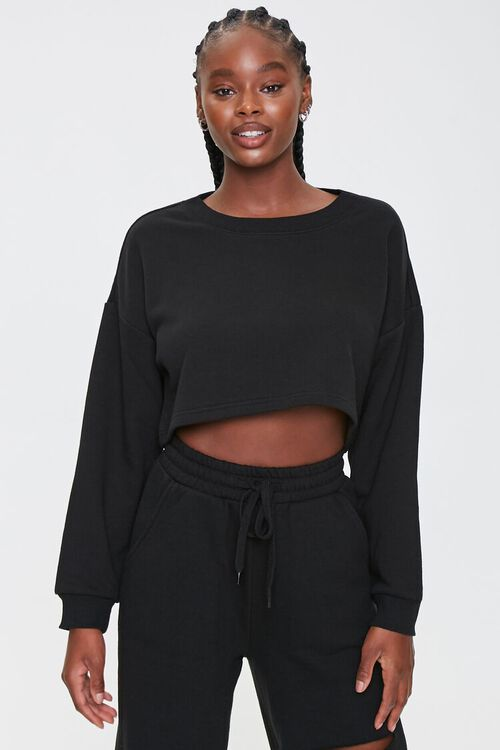 French Terry Drop-Sleeve Top, image 1