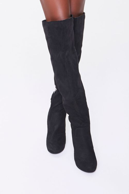 Faux Suede Stiletto Boots, image 4