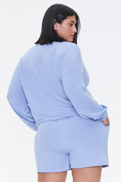 Plus Size Pullover & Shorts Set, image 3