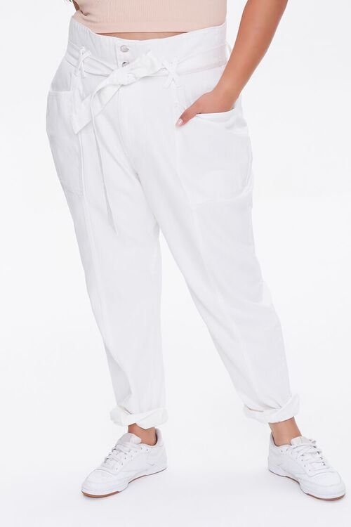 Plus Size Paperbag Jeans, image 2