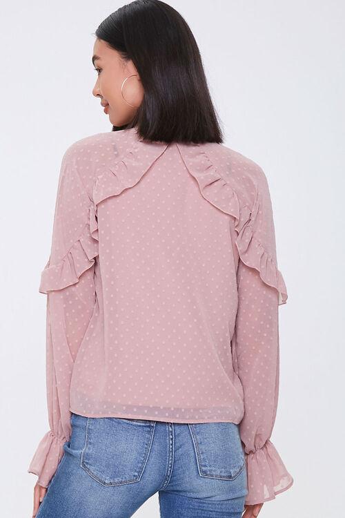 Chiffon Clip Dot Cutout Shirt, image 3
