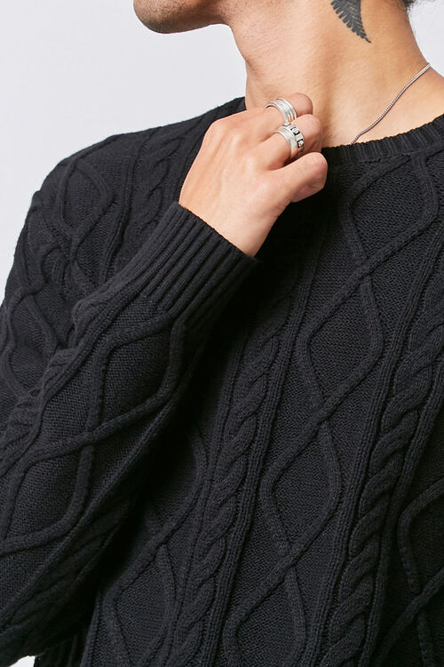 Cable-Knit Crew Neck Sweater, image 5