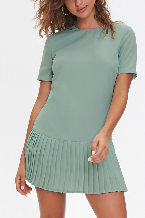 Pleated Shift Dress, image 1