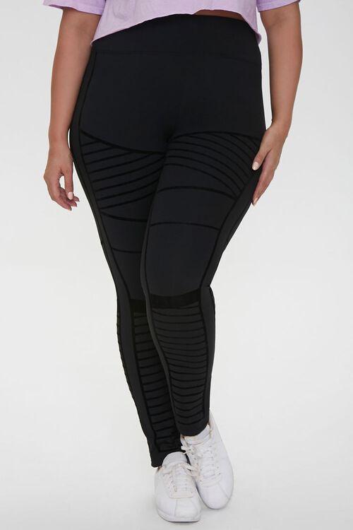 Plus Size Active Monochrome Leggings, image 2