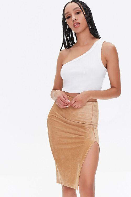 Leg-Slit Pencil Skirt, image 1