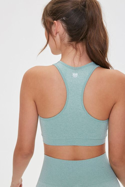 Knotted Marled Sports Bra, image 3