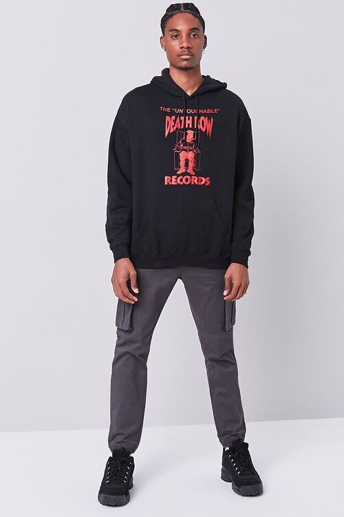BLACK/RED Death Row Records Graphic Hoodie, image 4