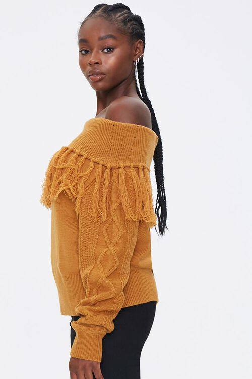 Tassel Off-the-Shoulder Sweater, image 2
