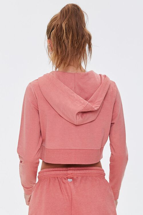 FADED ROSE Active French Terry Zip-Up Jacket, image 3