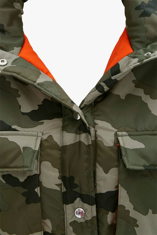 Plus Size Camo Puffer Jacket, image 4