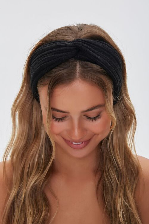 Knotted Pointelle Headwrap, image 2