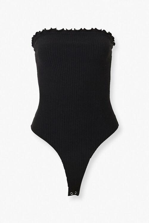Lettuce-Edge Strapless Bodysuit, image 1