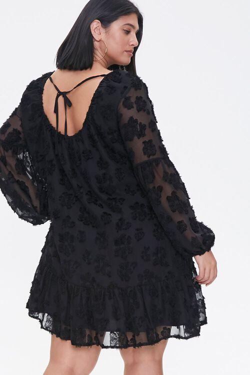 Plus Size Floral-Embellished Peasant Dress, image 3