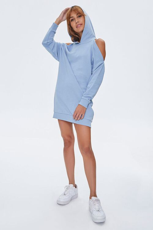 Open-Shoulder Hoodie Dress, image 1