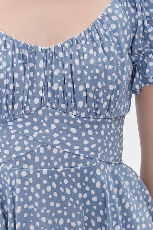 Spotted Print Flounce Mini Dress, image 5
