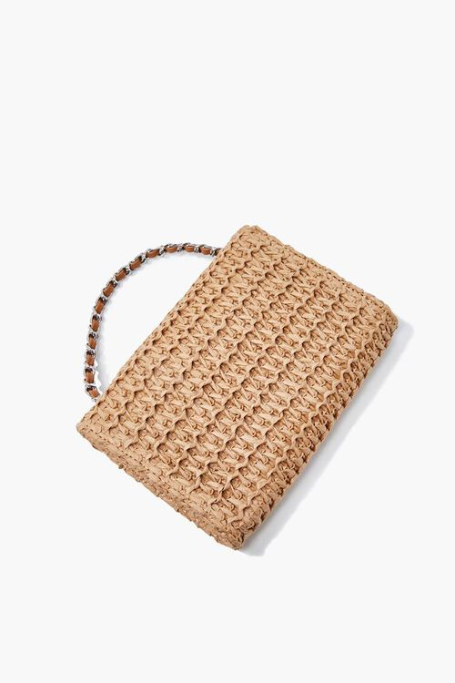 Faux Straw Basketwoven Crossbody Bag, image 2