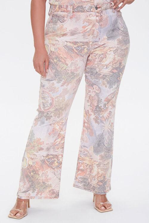 Plus Size Renaissance Art Print Ankle Jeans, image 2