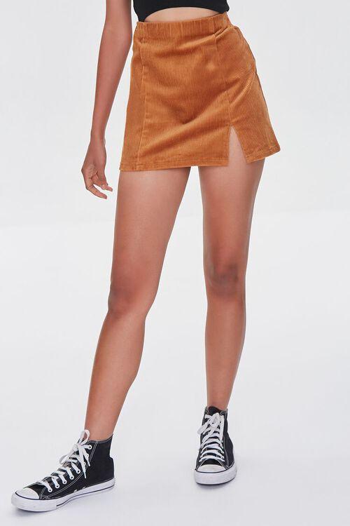 CAMEL Corduroy Mini Skirt, image 2