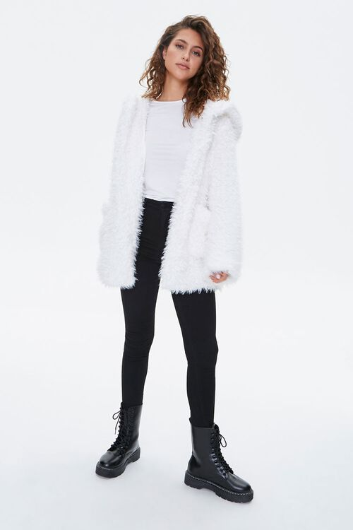 Hooded Fuzzy Knit Jacket, image 4