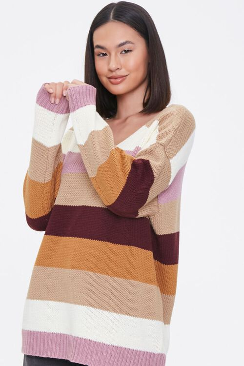 Striped Drop-Sleeve Sweater, image 1