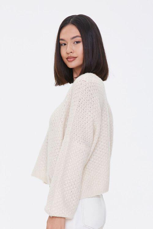 Open-Knit V-Neck Sweater, image 2