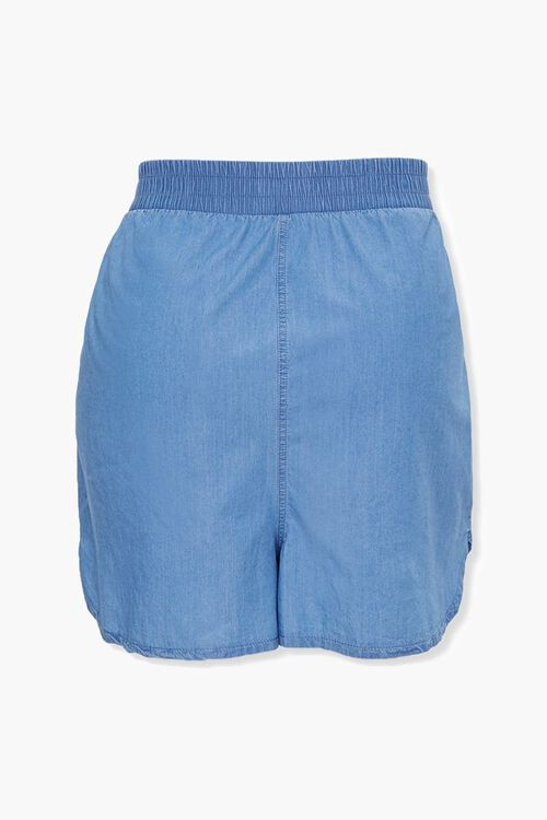 Plus Size Chambray Dolphin Shorts, image 3