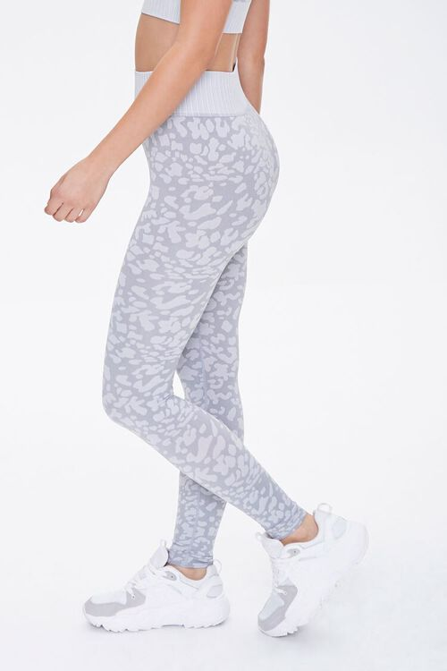 Active Seamless Spotted Print Leggings, image 3