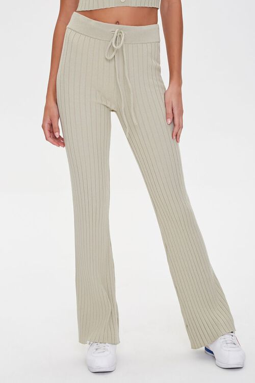 Ribbed Drawstring Sweatpants, image 2